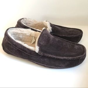 UGG Men's Ascot Shearling Lined Suede Slippers 9